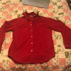 Red Levi's Brand Button up shirt